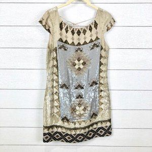 All Saints Spitalfields London Paloma Sequin Dress